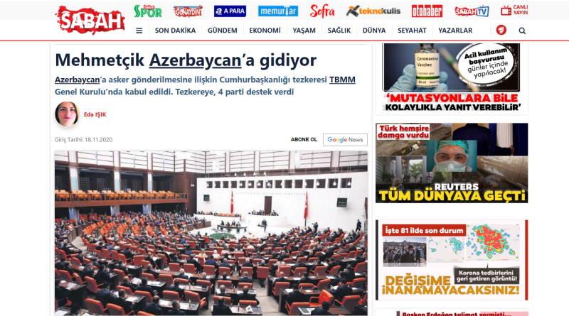 Мехметчик отправляется в Азербайджан