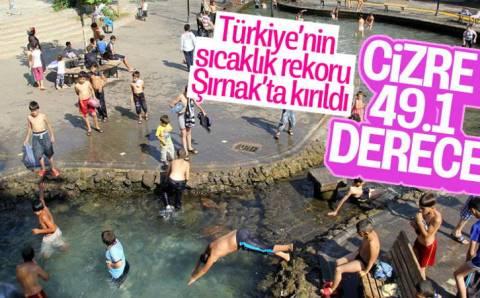 Жара побила исторический рекорд Турции