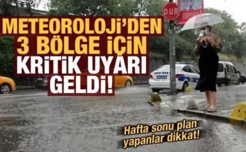 Грозы пройдут по Турции, север в ожидании наводнений