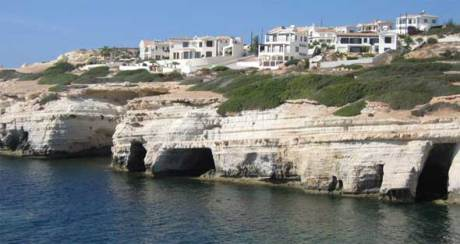 Sea caves at Peyia near Paphos