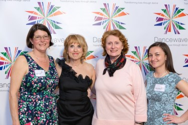 Assemblywoman Jo Anne Simon with Grace Freedman, Diane Jacobowitz, and Madelyn McNamara
