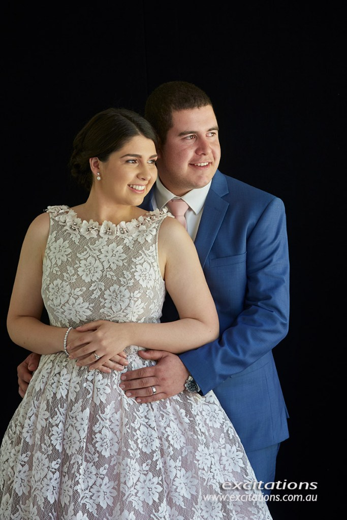 formal portrait taken on location inside a huge marquee. Excitations portraits.