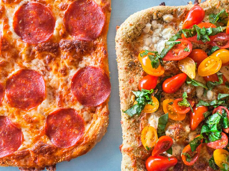 Two Pizzas: photo by Jackie Alpers for the Food Network