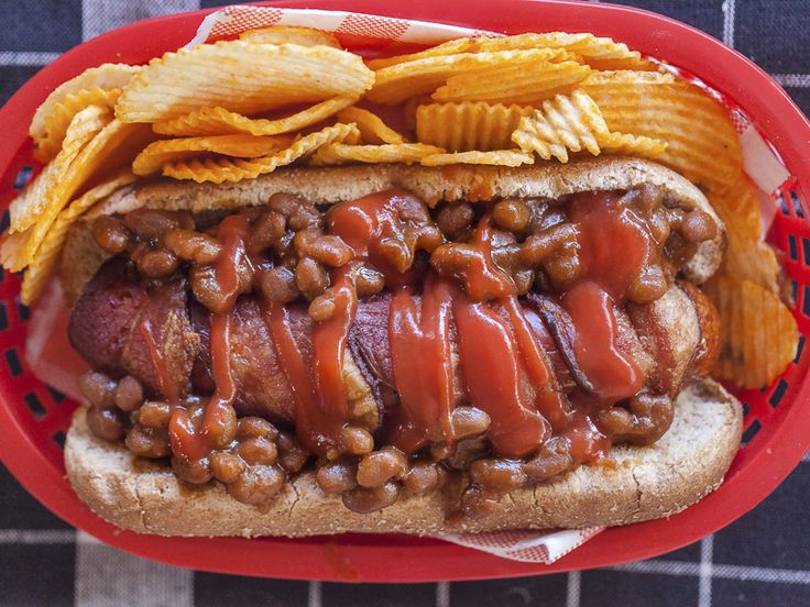 My Mother's Famous Baked Beans Hot Dog