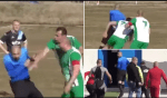 Referee chased off the pitch into car park by players during Bulgarian football match (video)