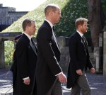 Prince William is reunited with his estranged brother Harry at Philip's funeral (Photos)