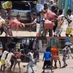 Area boys attack crossdresser while filming one of his skits in Lagos (videos)