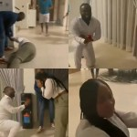 Lady turns over on the floor and bursts into tears as her man proposes to her on her birthday (video)
