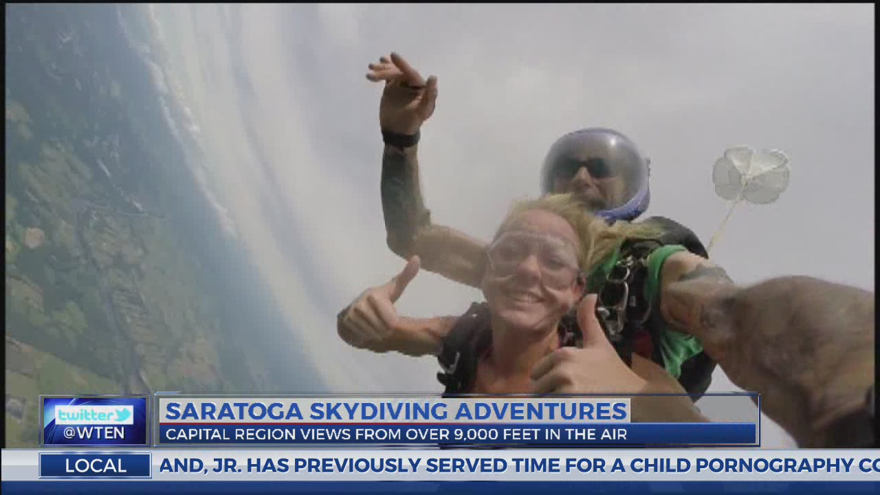 NEWS10 ABC's Jimmy Marlow touches the clouds at 'Skydive