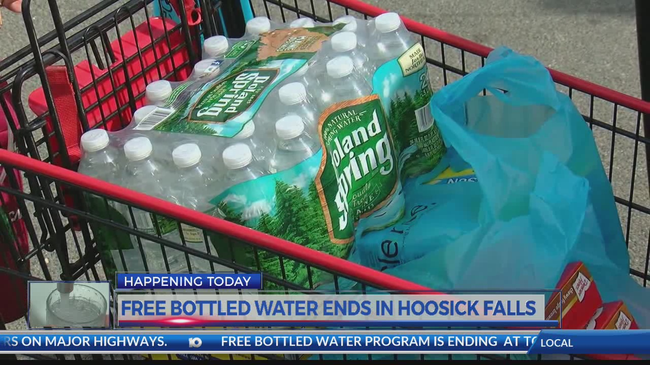 Hoosick Falls free bottled water program comes to an end