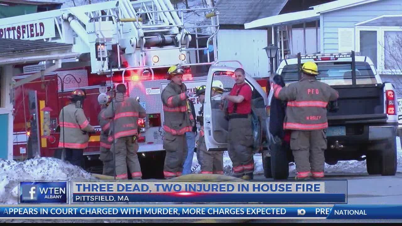 Three dead, two escape fatal fire in Pittsfield