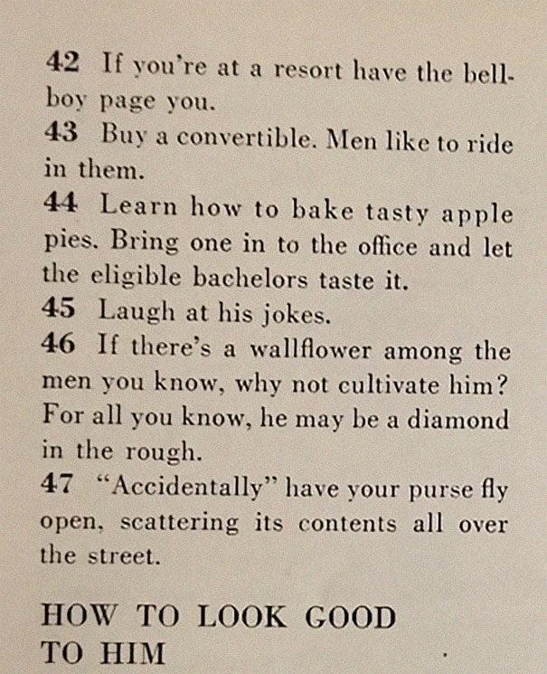 1958年老雜誌!詳細描述「129種獲得老公的方法」網驚:世界變了很多