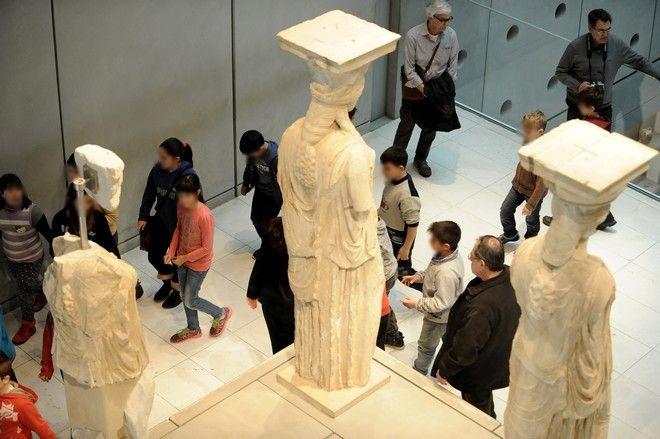 Στιγμιότυπο από το Μουσείο της Ακρόπολης