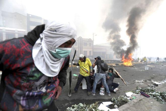 Aπό τις ταραχές στο Εκουαδόρ