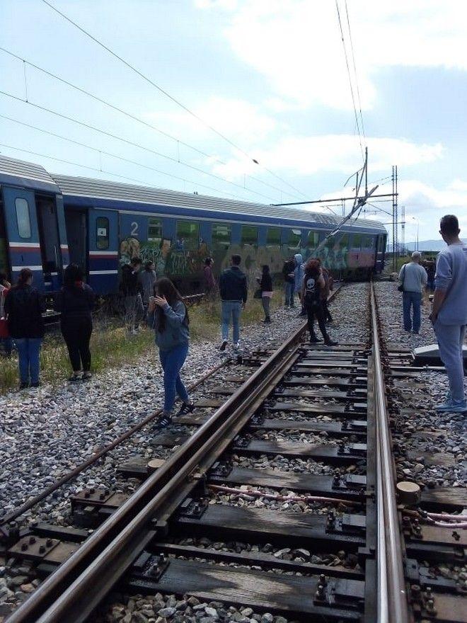 Λάρισα: Εκτροχιάστηκε αμαξοστοιχία μετά το Παλαιοφάρσαλο