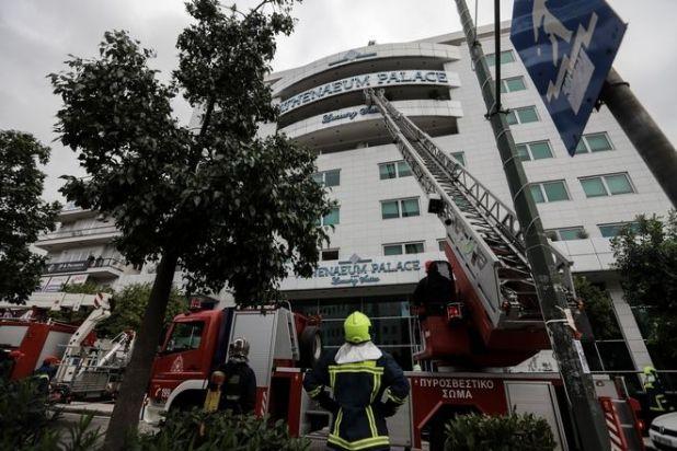 Φωτιά σε ξενοδοχείο στην λεωφόρο Συγγρού στην Αθήνα την Πέμπτη 5 Δεκεμβρίου 2019