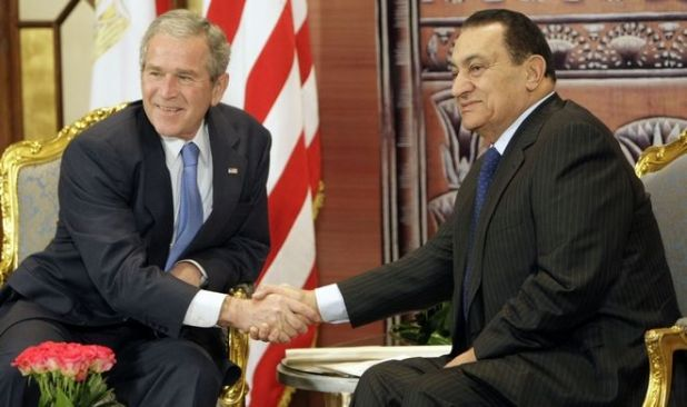 Συνάντηση του Χόσνι Μουμπάρακ με τον Τζορτζ Μπους το 2008