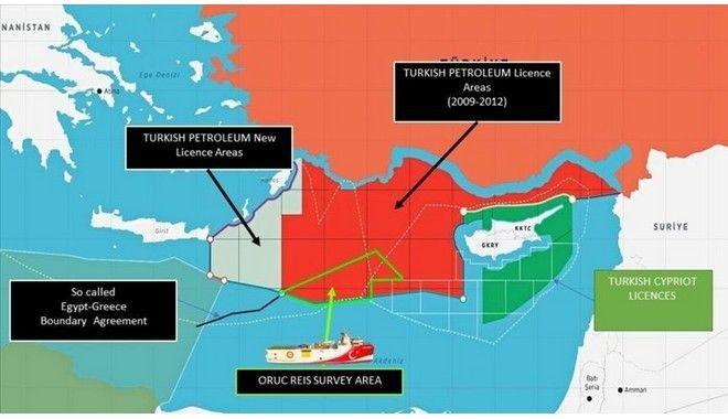 Τουρκία: Θράσος χωρίς τέλος - Δημοσίευσε χάρτη με έρευνες δίπλα στην Κάρπαθο