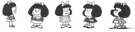 Η εξέλιξη του σκίτσου της Mafalda μέσα στα χρόνια