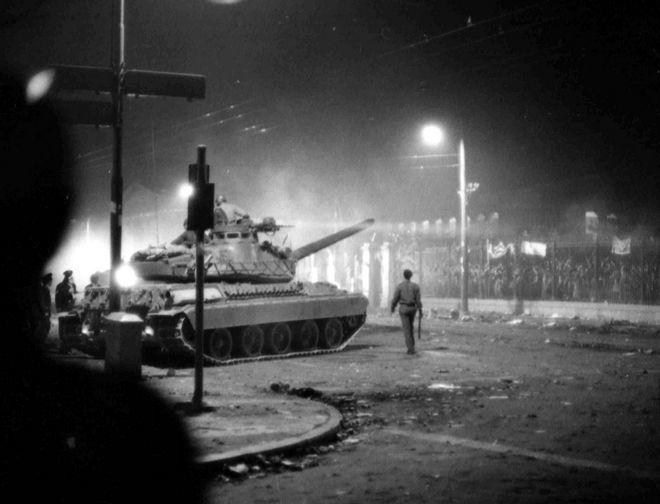 Τανκς, Πολυτεχνείο, 1973
