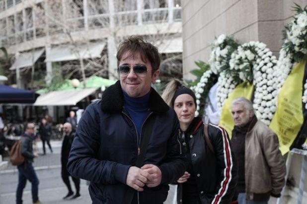 Θανάσης Τσαλταμπάσης στην κηδεία του ηθοποιού Κώστα Βουτσά στην Αθήνα την Παρασκευή 28 Φεβρουαρίου 2020