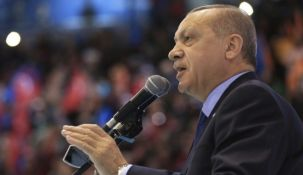 Ο Τούρκος πρόεδρος Ρετζέπ Ταγίπ Ερντογάν (Murat Cetinmuhurdar/Pool Photo via AP)