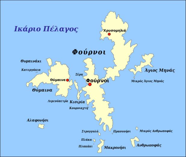 Χάρτης του συμπλέγματος των Φούρνων