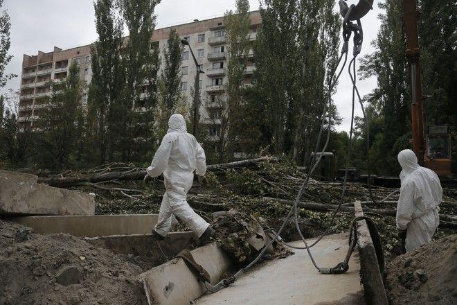 Εργαζόμενοι στο Τσέρνομπιλ
