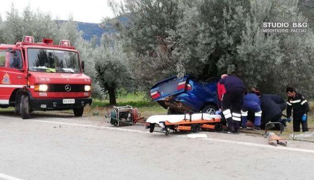 Δυστύχημα με οικογένεια στην Αργολίδα - Νεκρός ο πατέρας, στο νοσοκομείο μάνα και παιδί