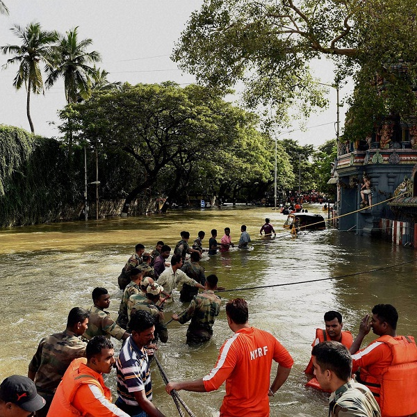 Live Updates | Heavy rain in Chennai after brief respite; NDRF sends 20 more teams, rescues 10,000