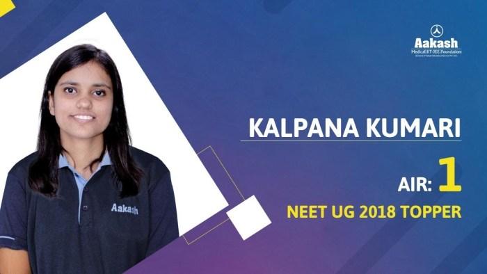 Bihar Girl Kalpana Kumari Tops NEET 2018 Exam, Scores 691 Marks Out Of 720
