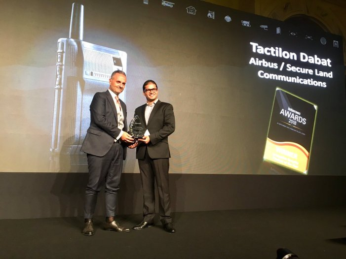 PR:Airbus device Tactilon Dabat wins Intersec Award 2018