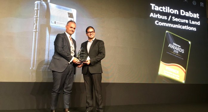 PR:Airbus device Tactilon Dabat wins Intersec Award 2018