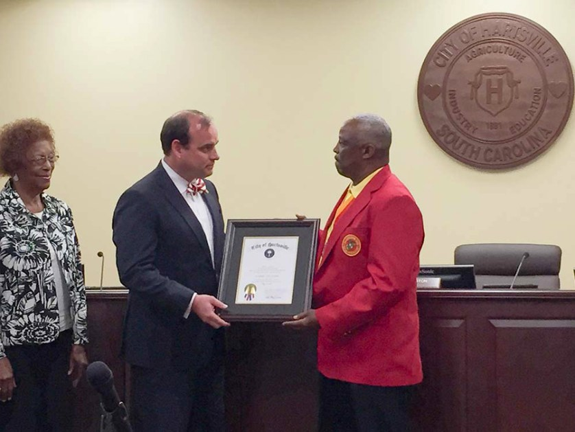 Hartsville native Frazier honored by city