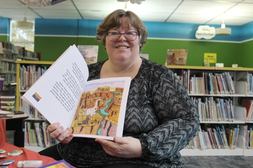 Society Hill librarian combines love of writing,  drawing to publish her own book