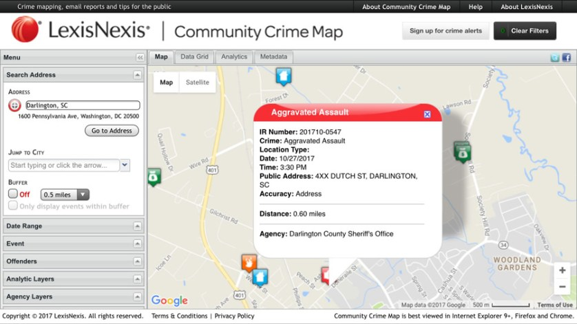 Darlington County Sheriff's Office releases crime map to public
