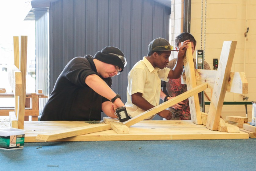 DCIT students build tables for Hartsville  waterpark