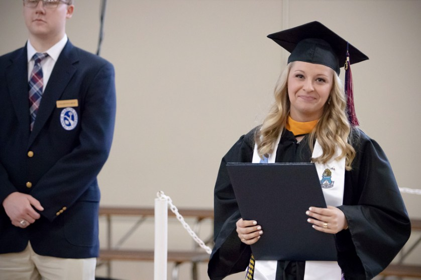 After horrific crash, graduation walk means more to Hucks