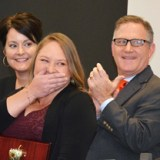 DCSD Teacher of the Year surprised:  She gets to drive a new car for six months