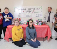 First Baptist Church's Operation  Christmas Child packing day