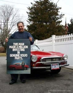 Irv_Gordon_1966_Volvo_P1800_in_Volvo_Parts_ad