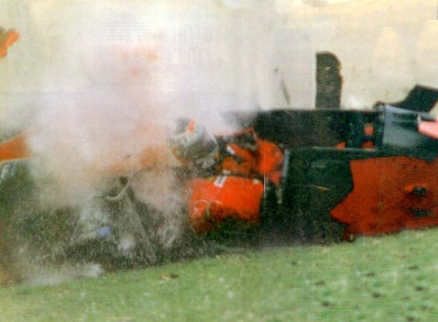 Berger Crash ferrari89