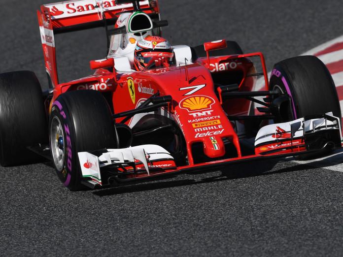 Kimi Raikkonen (FIN) Ferrari SF16-H at Formula One Testing, Day Four, Barcelona, Spain, Thursday 25 February 2016.