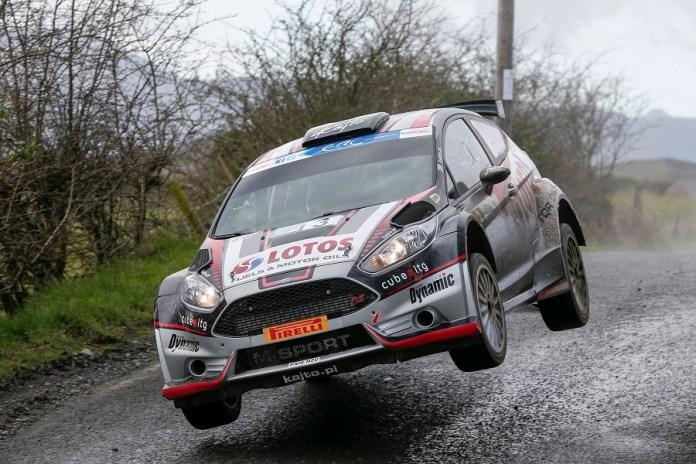 03 KAJETANOWICZ Kajetan BARAN Jaroslaw FORD FIESTA R5 ACTION during the 2016 European Rally Championship ERC Circuit of Ireland rally,  from April 7 to 9, at Belfast, Ireland - Photo Alexandre Guillaumot / DPPI