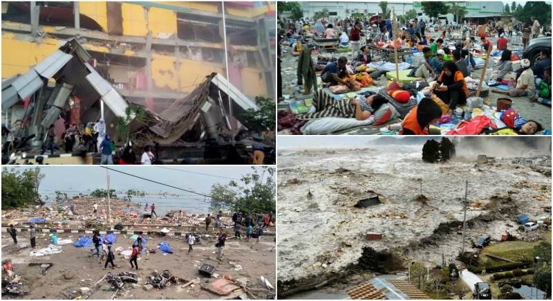 Image result for At Least 384 Killed After Major Earthquake And Tsunami Hit Indonesia