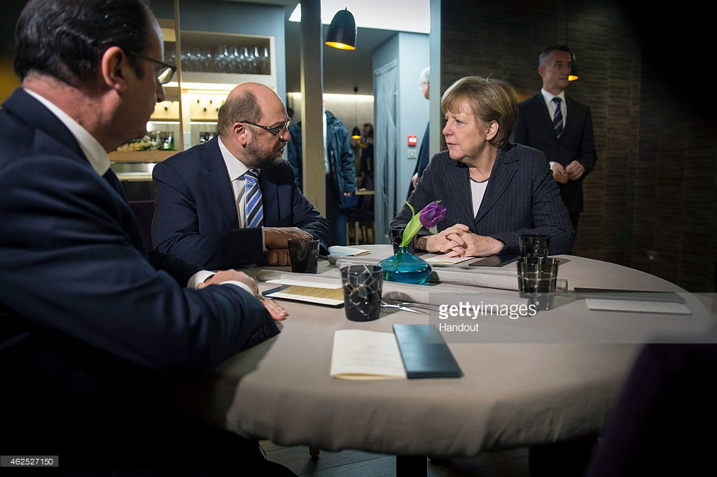 Merkel Hollande Schulz