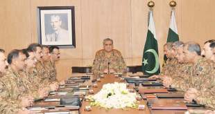 Corps Commanders meeting