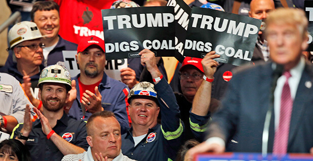 US President Trump quickened his efforts to rescue coal country