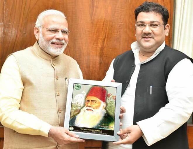 Jasim Mohammad, the director of the FMSA with Prime Minister Narendra Modi