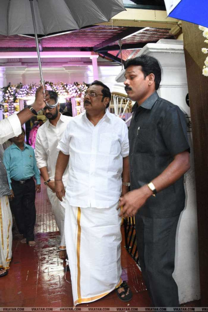 Vikram's Daughter Marries DMK Leader Karunanidhi's Great Grandson